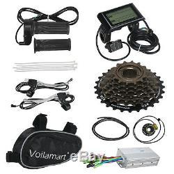 1000W Electric Bicycle Conversion Kit Rear Wheel E Bike Hub Motor LCD Meter 26