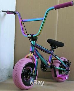 10 SLIK MINI BMX, fat wheels, trick, monkey bike, Rocker, OIL SLICK, DISC BRAKE