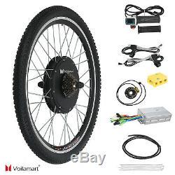 1500W 48V Electric Bicycle Conversion Kit E Bike Motor Hub Speed 26 Rear Wheel