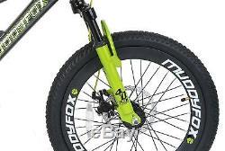 20 Utah Boys KIDS BIKE Childrens MUDDYFOX Disc Mountain Bicycle in GREEN