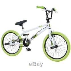 20 Zoll BMX Bike Fahrrad Freestyle Kinderfahrrad Kind Rad deTOX 20 weiß/grün