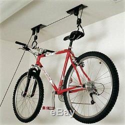 20kg Cycle Storage Space Saving Stand Rack Garage Bike Lift Bicycle Pulley Hoist