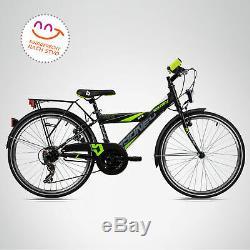 24 Zoll Kinderfahrrad Bergsteiger Sydney STVZO Shimano Kinderrad Jungen Fahrrad