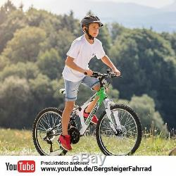 24 Zoll Mountainbike Bergsteiger Montreal Shimano Scheibenbremse Kinderfahrrad