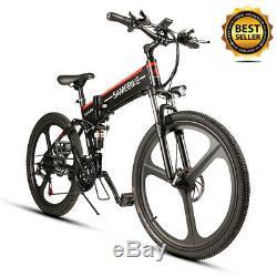 26'' Ebike Folding Electric Bike 48V 350W Motor Electric Bicycle Mountain Bike