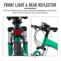 26 Folding Mountain Bike 21 Speed MTB Bicycle Full Suspension Dual Disc Brakes