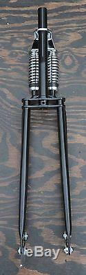 26 Monark Bicycle Black DUAL SPRINGER FORK Rat Rod Chopper Vintage Cruiser Bike