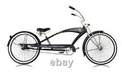 26 Stretch Beach Cruiser Bicycle 68 Spokes Rims Coaster Extended Bike PUMA