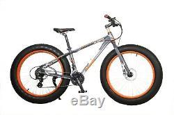 26 Wheel Mountain Bike Fat Tyre 24 Gears Bike Cruiser Bicycle Cycling