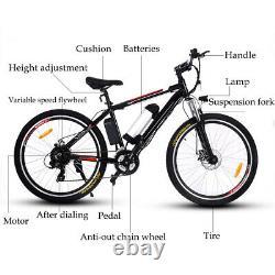 26 Zoll E-bike Elektrofahrrad Mountainbike E-MTB 21-Gäng Shimano Pedelec 35km/h