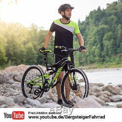 26 Zoll Mountainbike Bergsteiger Kodiak Shimano Scheibenbremse Vollfederung MTB