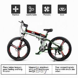 26inch E-bike Folding Electric Bike Moped Bicycle City Bike 400W 30km/h UK J6T6