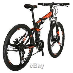 27.5 Folding Mountain Bike 21 Speed Full Suspension Bicycle Mens Bikes MTB Gift