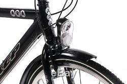 28 Zoll ALU City Bike Herrenrad Fahrrad KCP ARA Gent 21G SHIMANO TOURNEY schwarz