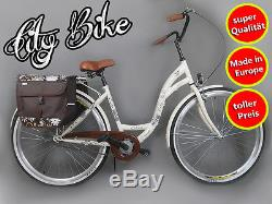 28 Zoll Damenfahrrad Amsterdam Citybike Cityrad Damenrad Creme Vintage Gratis
