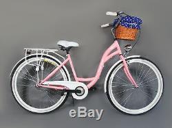 28 Zoll Damenfahrrad Amsterdam Citybike Cityrad Damenrad Klassik Retro