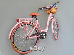 28 Zoll Damenfahrrad Amsterdam Citybike Cityrad Damenrad Klassik Vintage Rosa