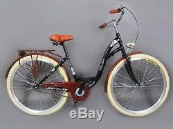 28 Zoll Damenfahrrad Retro. Citybike Cityrad Damenrad Schwarz Vintage -20%