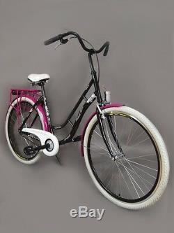 28 Zoll Damenfahrrad Retro Citybike Cityrad Damenrad Schwarz Vintage. 20%