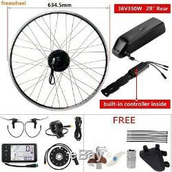 36V350W 28 700CRear Motor Freewheel E-Bike Conversion Kit+36V12.5Ah Battery