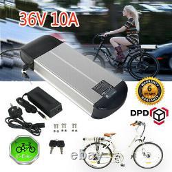36V 10A E-Bike Li-ion Battery Electric Bike Battery Pack Lockable 2A Charger Kit