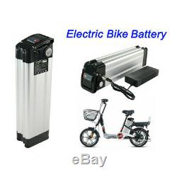 36V 15Ah Lithium Battery E-bike Electric Bicycle Battery Lockable Silver Charger