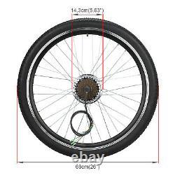36V 250W Rear Wheel Electric Bicycle Motor Conversion Kit E Bike Cycling Hub 26