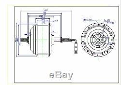 48V1000W Electric Bike E-bike Conversion Kit Rear Hub Motor 26 Wheel Black