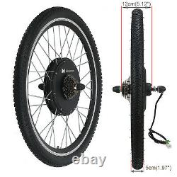 48V 1000W Electric Bicycle Motor Conversion Kit Bike Cycling Hub 26 Rear Wheel