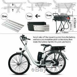48V 20Ah 1000W Rear Rack E-bike Li-oin Battery fr Electric Bicycle Black+Charger