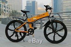 48 Volt'uk Road Legal' Folding Electric Mountain Bike Better Than 36 Volt