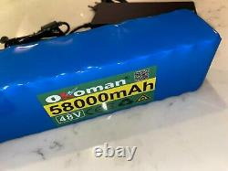 48v Ebike 58ah Battery lithium ion 1000w bike Scooter & charger UK STOCK & plug