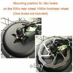 500/1000W 26 Electric Bicycle Motor Conversion Kit Front/Rear Wheel E Bike PAS