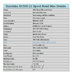 54cm Frame Road Bike 21 Speed Road Bicycle 700C Wheels men Racing Disc Brakes