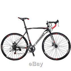 700C Road Bike Shimano 21 Speed Bicycle 54cm Disc Brakes Cycling men's bikes 1