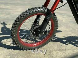 72V 3000W Aluminum Electric Off-road (Dirt) Bike Motorcycle For Adults. 35+ MPH