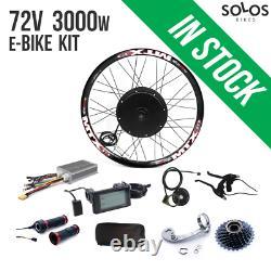 72V 3000W Electric Bicycle Rear Hub Motor Conversion Kit E-Bike Wheel 26'' 27.5