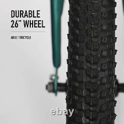 Adult Tricycle 26 Trike Cargo Bike British Racing Green w. Basket Digit Lock