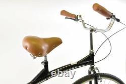 Ammaco Penny Farthing 700c Gentlemans High Wheel Bike Black Bicycle Comfort