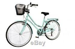Aurai Trekker Ladies 26 Dutch Style Heritage City Bike 6 Speed Bicycle Lagoon