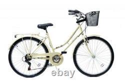 Aurai Trekker Ladies Heritage Bike Bicycle 26 Wheel 6 Speed Cream AUR-TREK-L-1