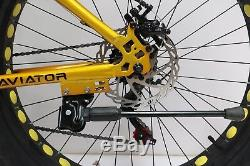 Aviator Fat Bike 26Inch 21Speed Sand, Snow Mountain Bike 4.0 Fat Tyre Disc Brake