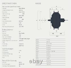 BAFANG E-Bike Motor 500W 48V Hinterrad 8/9/10 Steckkassette RWD G040 RM. G040