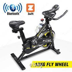 BLUETOOTH Exercise Spin Bike Cycle Studio Indoor Training 13KG Spinning Flywheel