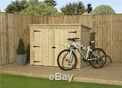 Bike Store Bike Shed 6x4 Shiplap Pent Tanalised Pressure Treated Tongue & Groove