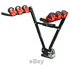 Car & 4x4 Secure Tow Ball Fitment 45kg 3 Bike Bicycle Travel Rack Carrier NEW