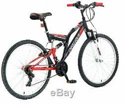 Challenge Orbit 26 Inch Dual Suspension Mountain Bike Red & Black