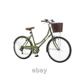 Coyote Windsor Ladies Classic Heritage Bike 26 Wheel, 6 Speed Green