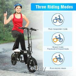 DOHIKER Folding Electric Bike Moped Car Bicycle Scooter City E-Bike 25km/h Black
