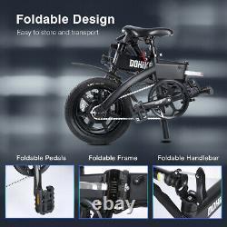 DOHIKER Folding Electric Bike Power Assist Bicycle E-Bike 36V 250W 25km/h 14Inch